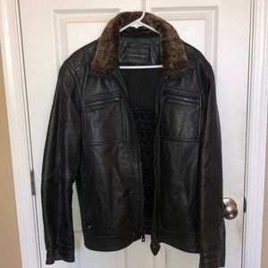 Andrew Marc excellent condition leather bomber